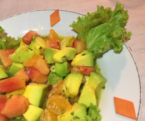 avocado salad at Star Beam