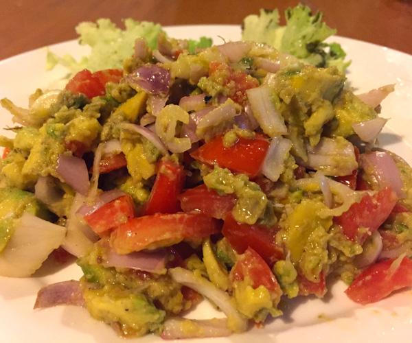 avocado salad in Bagan