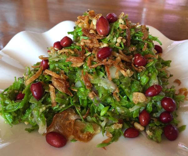tamarind salad at Khaing Shwe Wah