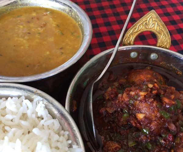 vegan curries at Indian Hut