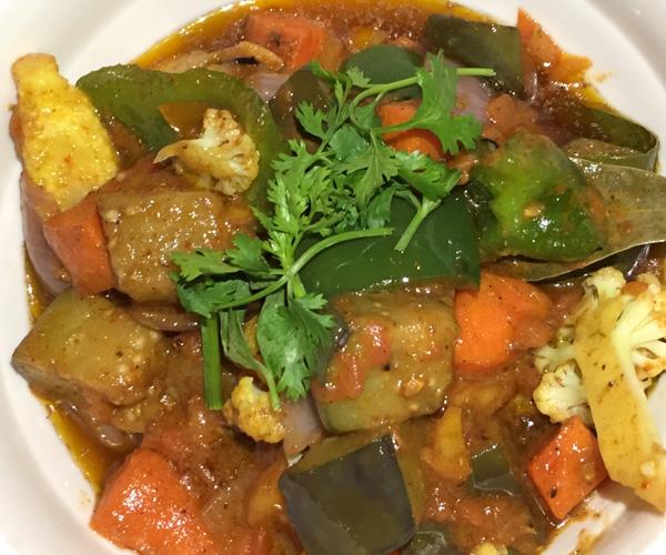vegan curry at Social House