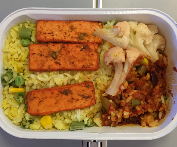 Air Asia vegan food 1