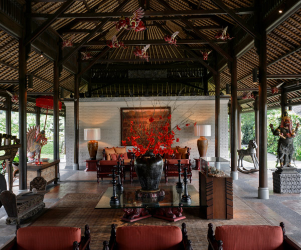 Lobby at Chedi Club Ubud