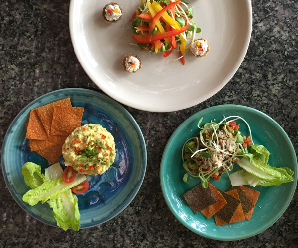 selection of vegan food at LifeCo Phuket