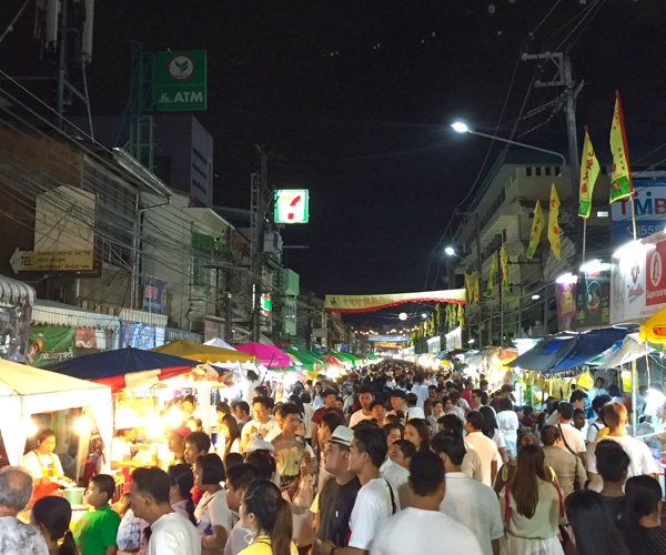 crowds at Phuket Vegetarian Festival