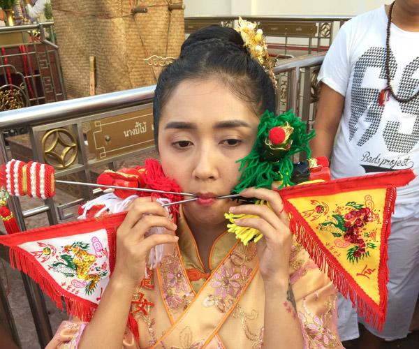 Phuket Vegetarian Festival piercings 1