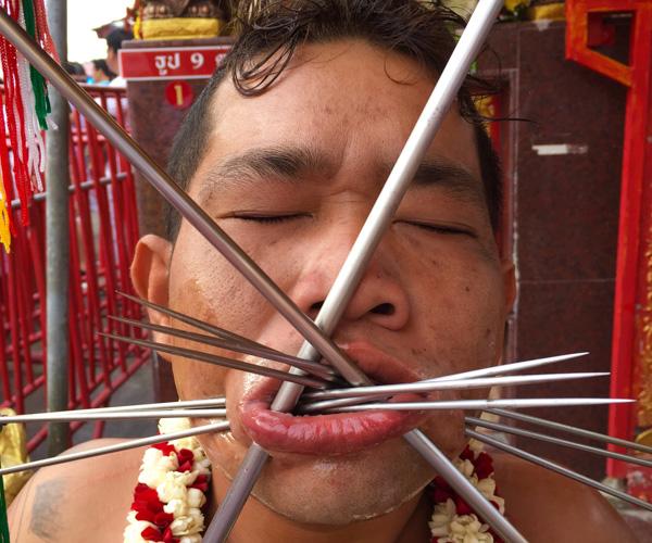 Phuket Vegetarian Festival piercings 3