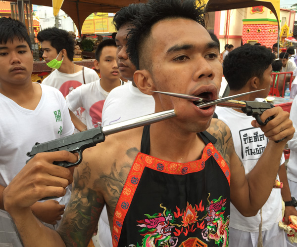 Phuket Vegetarian Festival piercings 4