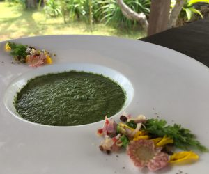 vegan soup at Puri Ganesha