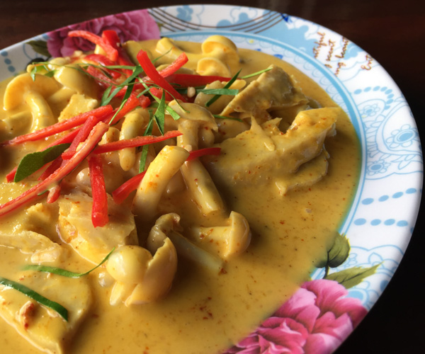 vegan Penang curry at Yo Green Phuket