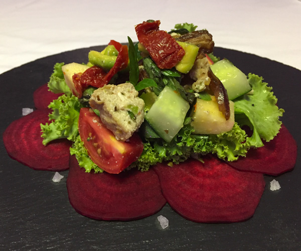 7 Secrets Resort beetroot salad
