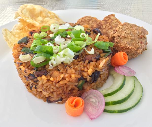 Vegan nasi goreng at 7 Secrets Resort