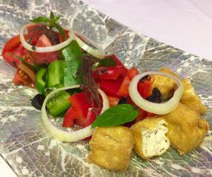 Tofu salad at 7 Secrets Resort