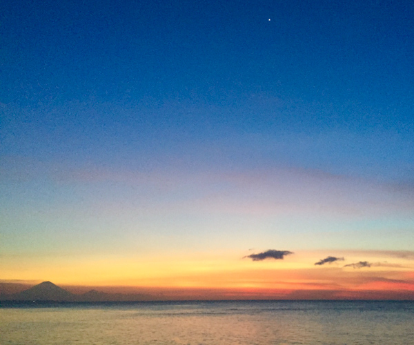 Sunset with Mount Agung
