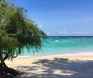 Beautiful beach in Gili T