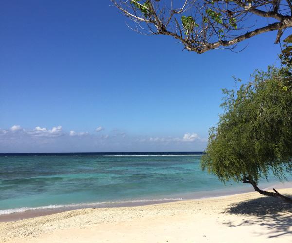 Deserted beach on Gili Trawangan
