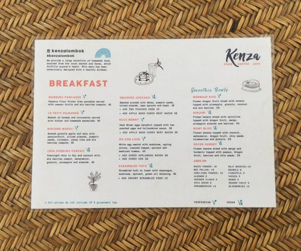 Kenza in Kuta menu 2