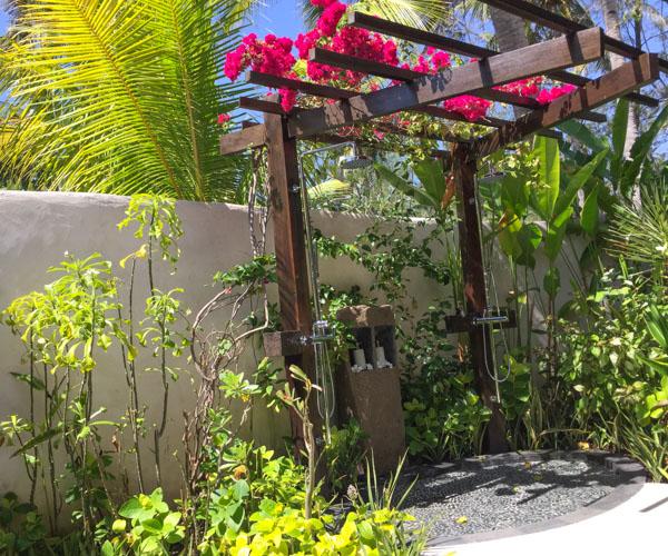 Outdoor bathroom at Pondok Santi