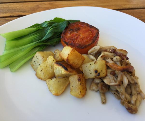 Vegan breakfast at Pondok Santi