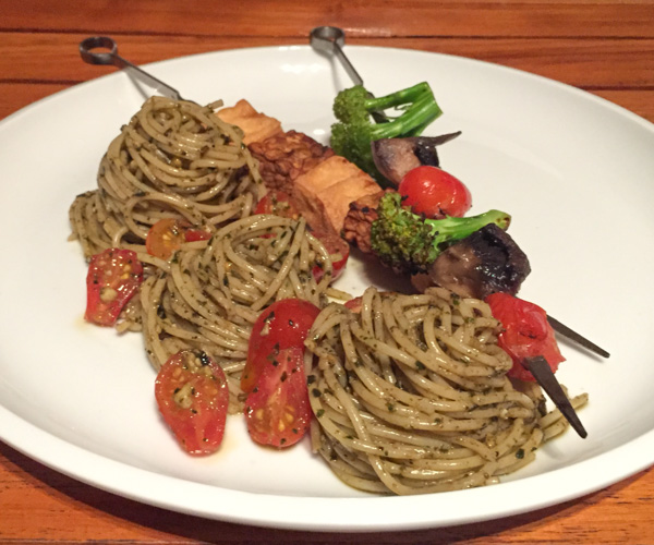 Spaghetti and tempeh at Pondok Santi