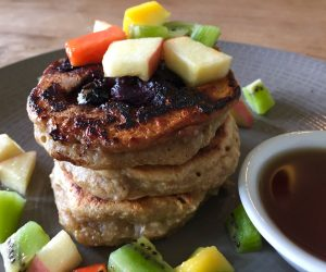 The Banyan Tree Gili T vegan pancake stack