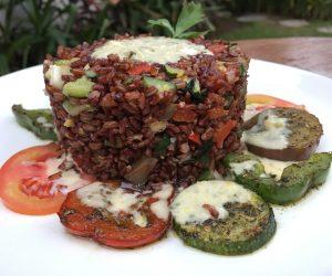 Vegan food at Mana Retreat