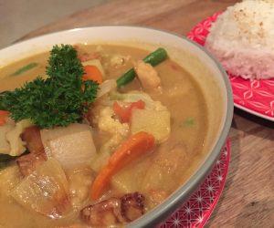Vegan food at Origin Lombok 1