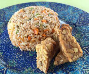 Vegan food at Origin Lombok 2