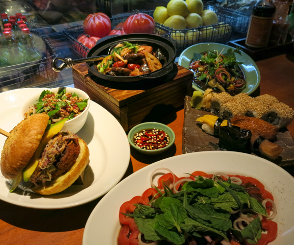 Grand Hyatt Singapore vegan food at mezza9 3