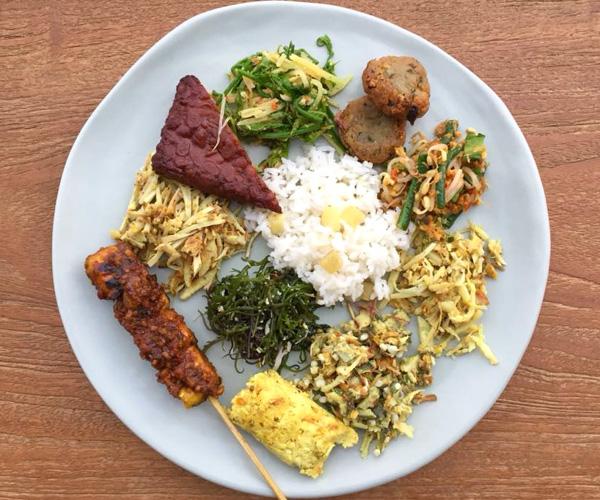 Vegan Indoensian food at Six Senses Uluwatu
