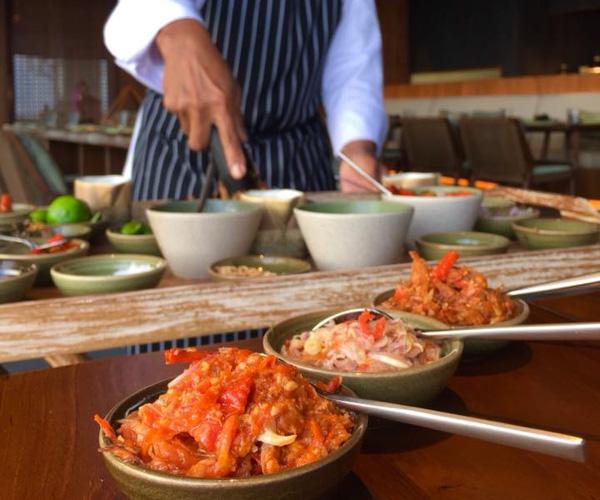 Vegan Sambals at Six Senses Uluwatu