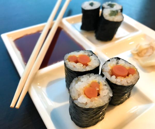 InterContinental Tokyo Bay vegan sushi