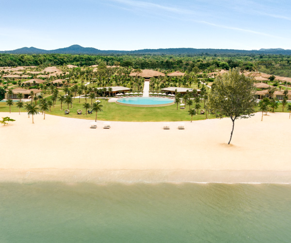 Fusion Resort Phu Quoc Beach Aerial View