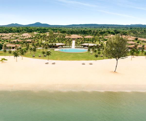 Fusion Resort Phu Quoc Beach Aerial View