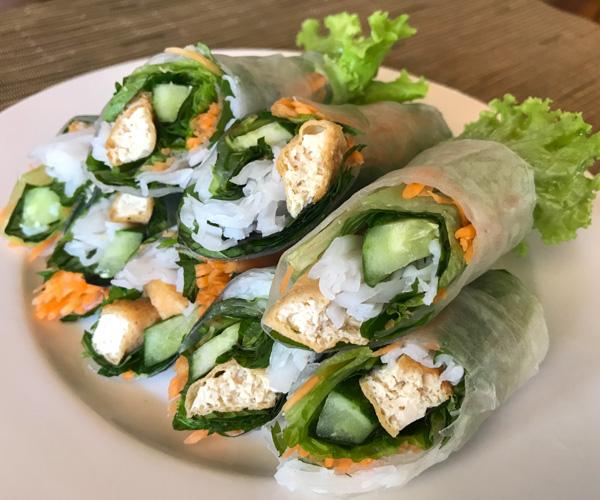 Fusion Resort Phu Quoc vegan summer rolls