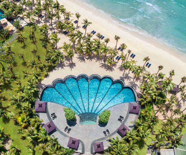 JW Marriott Phu Quoc Shell Pool Aerial