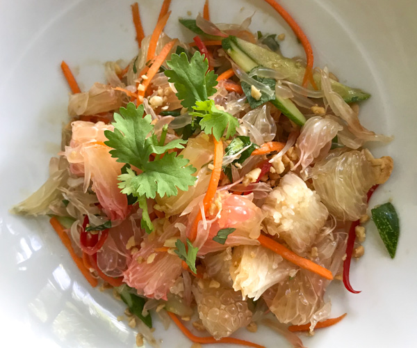 JW Marriott Phu Quoc vegan pomelo salad