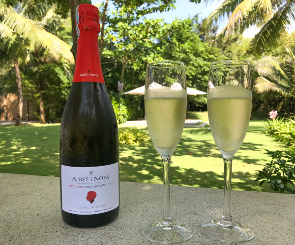 Salinda Resort vegan champagne