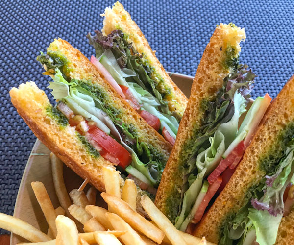 Salinda Resort vegan club sandwich