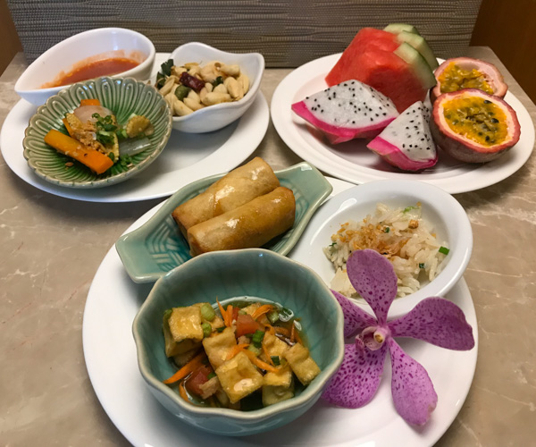 InterContinental Hua Hin vegan food canapes