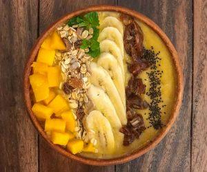 Sacred Lotus Phnom Penh fruit smoothie bowl