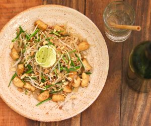 Sacred Lotus Phnom Penh vegan noodles