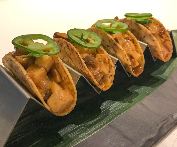 Akira Back vegan tacos