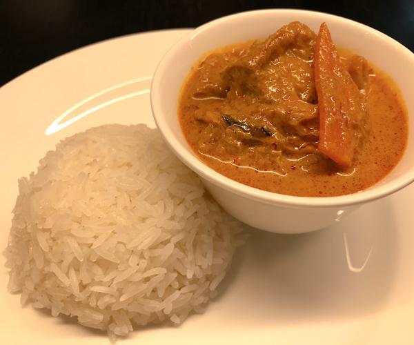 JW Marriott Singapore vegan curry