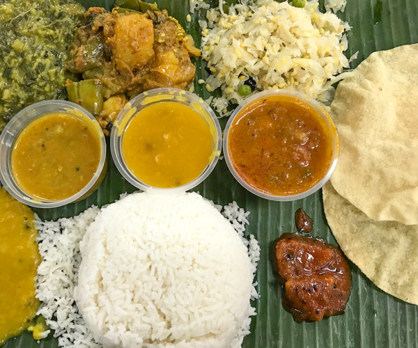 Komala Vilas rice and curry