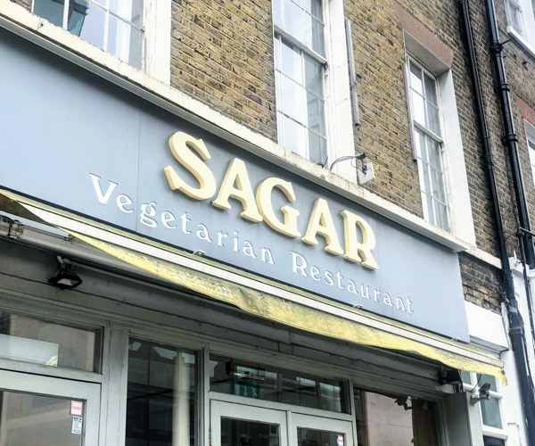 vegan food at Sagar