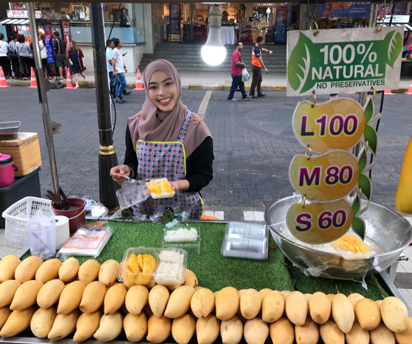mango sticky rice in Hat Yai
