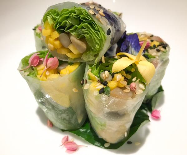 Bangkok Marriott Marquis - Vegan Fresh Spring Rolls