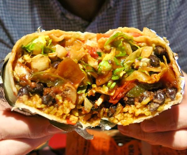 Calimex Hong Kong vegan burrito
