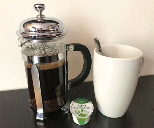 La Suite West - coffee and soya milk